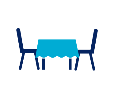 Icon of a Table with Two Chairs